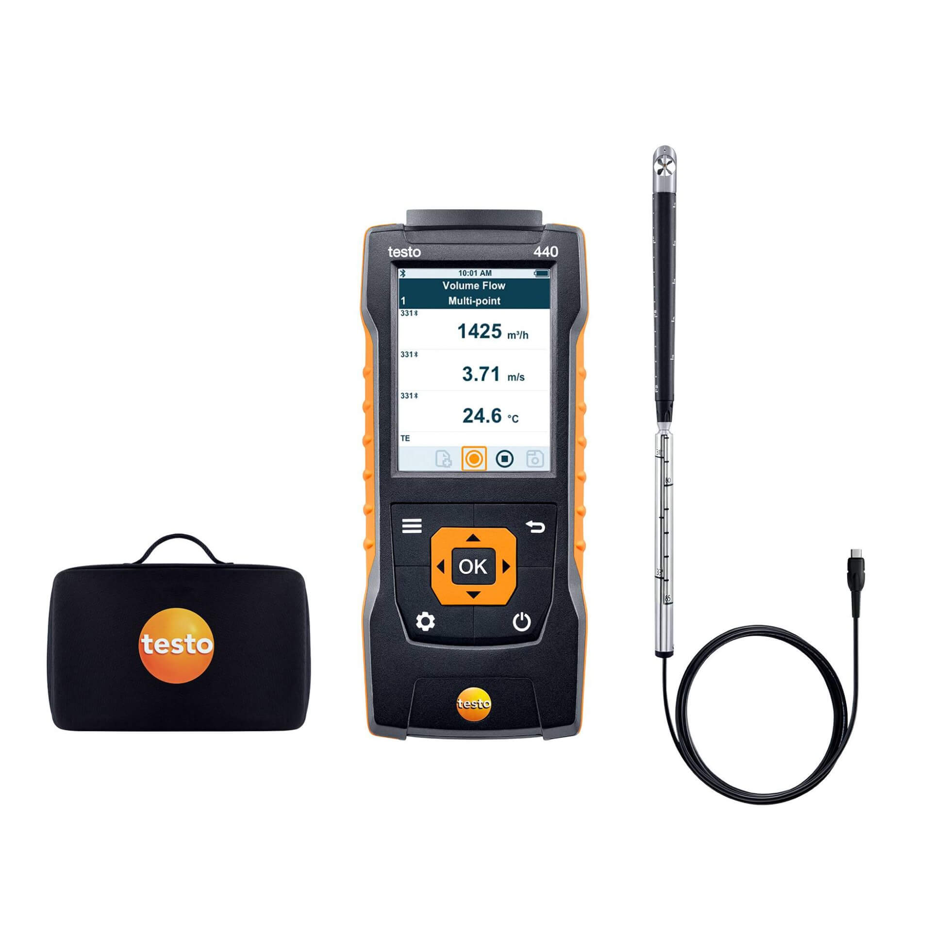 Testo 440 Air Flow Velocity IAQ Instrument 16 mm Vane Kit 0563 4401