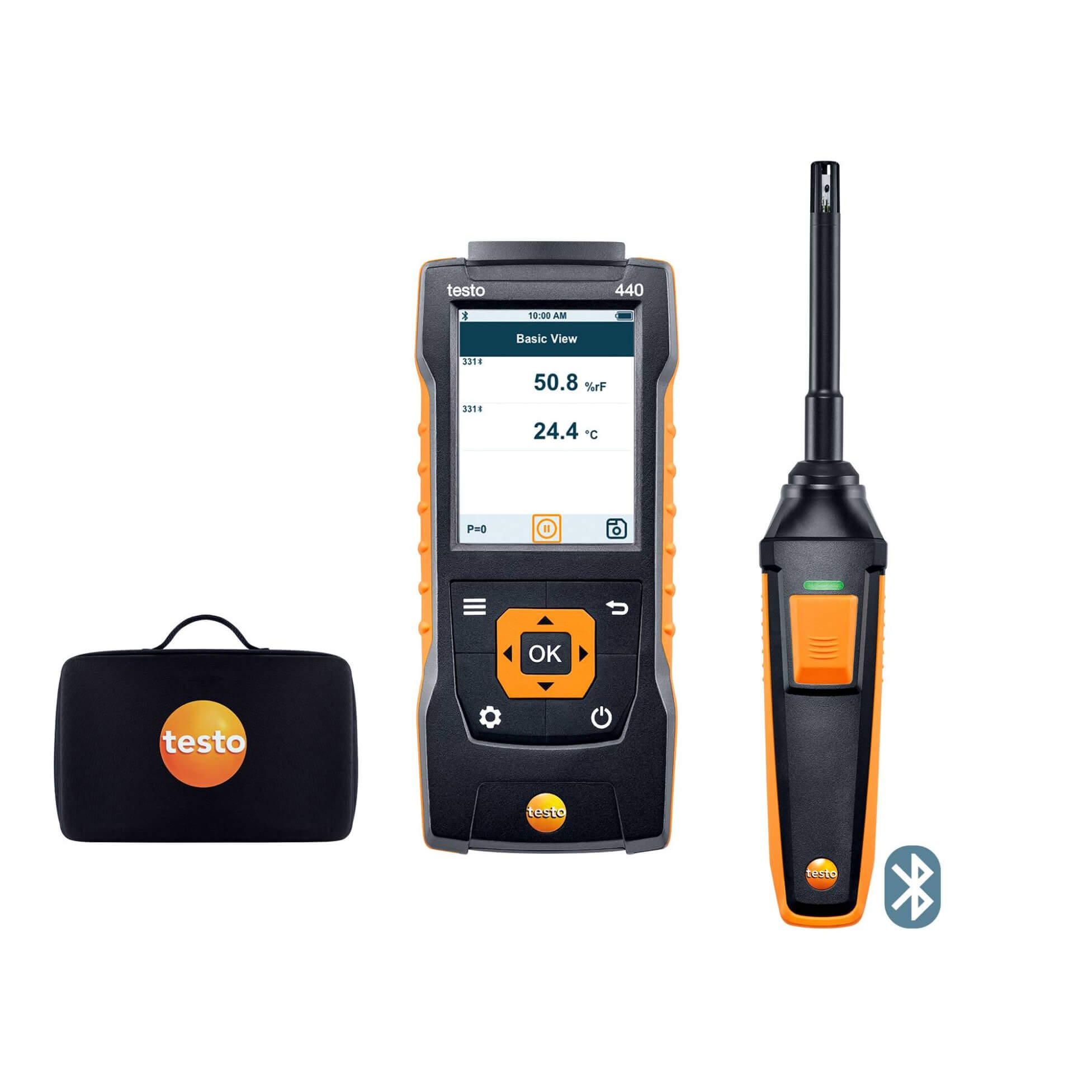 Testo 440 Indoor Air Quality Humidity Kit with Bluetooth 0563 4404