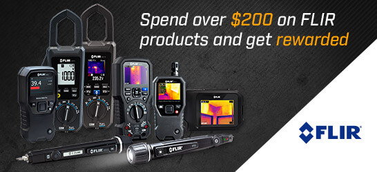 Flir Infrared Cameras and Meters Bonus Buys Promotion Q4, 2017