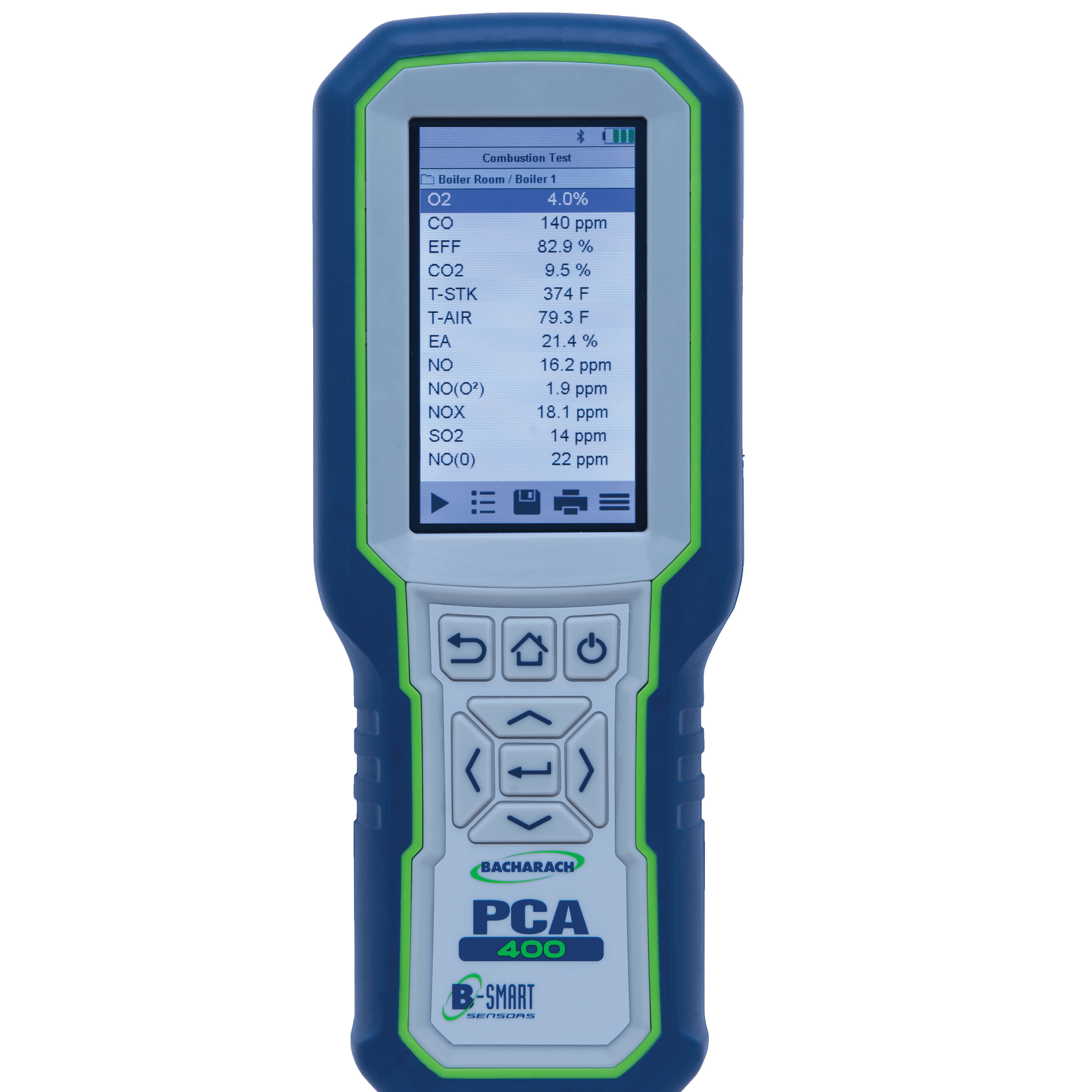 Bacharach PCA 400 Combustion and Emissions Analyzer for Commercial and Industrial Applications
