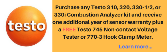 Testo Combustion Analyzers Promotion
