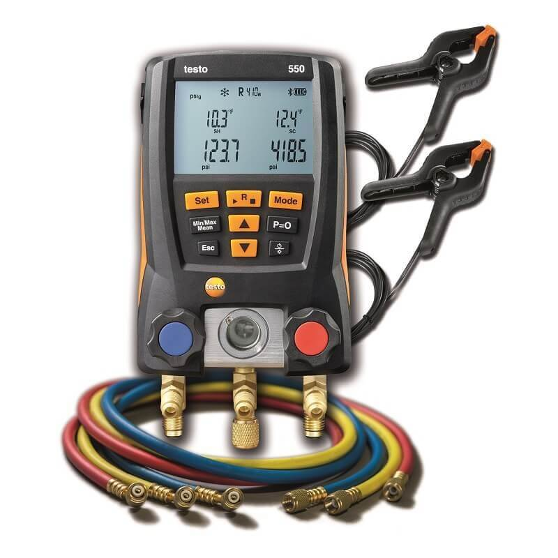 Testo 550 Manifold Kit with Hoses