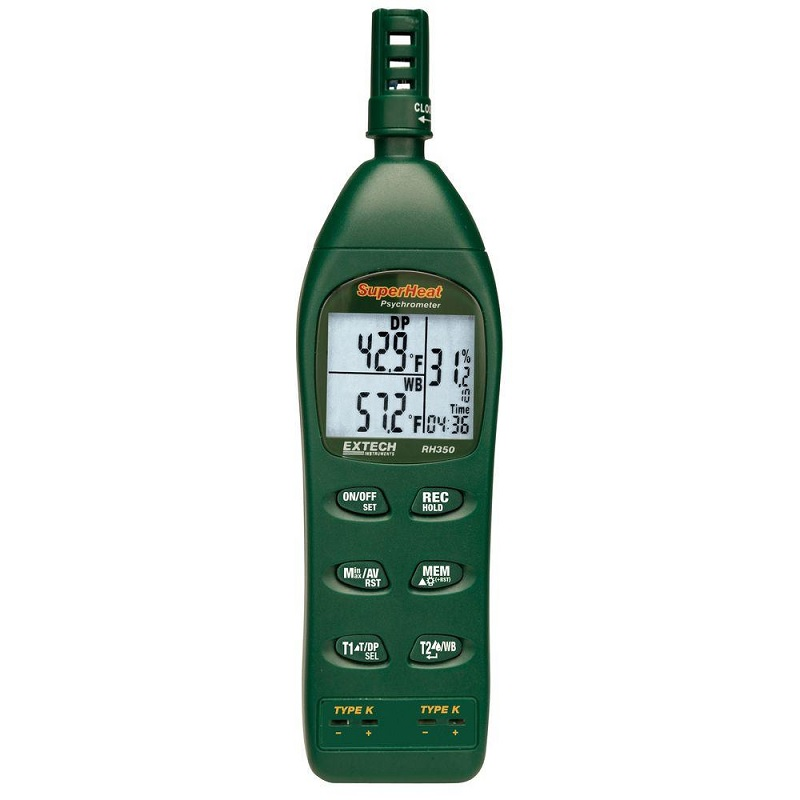 Extech RH350 Precision Psychrometer Temperature and Humidity Meter