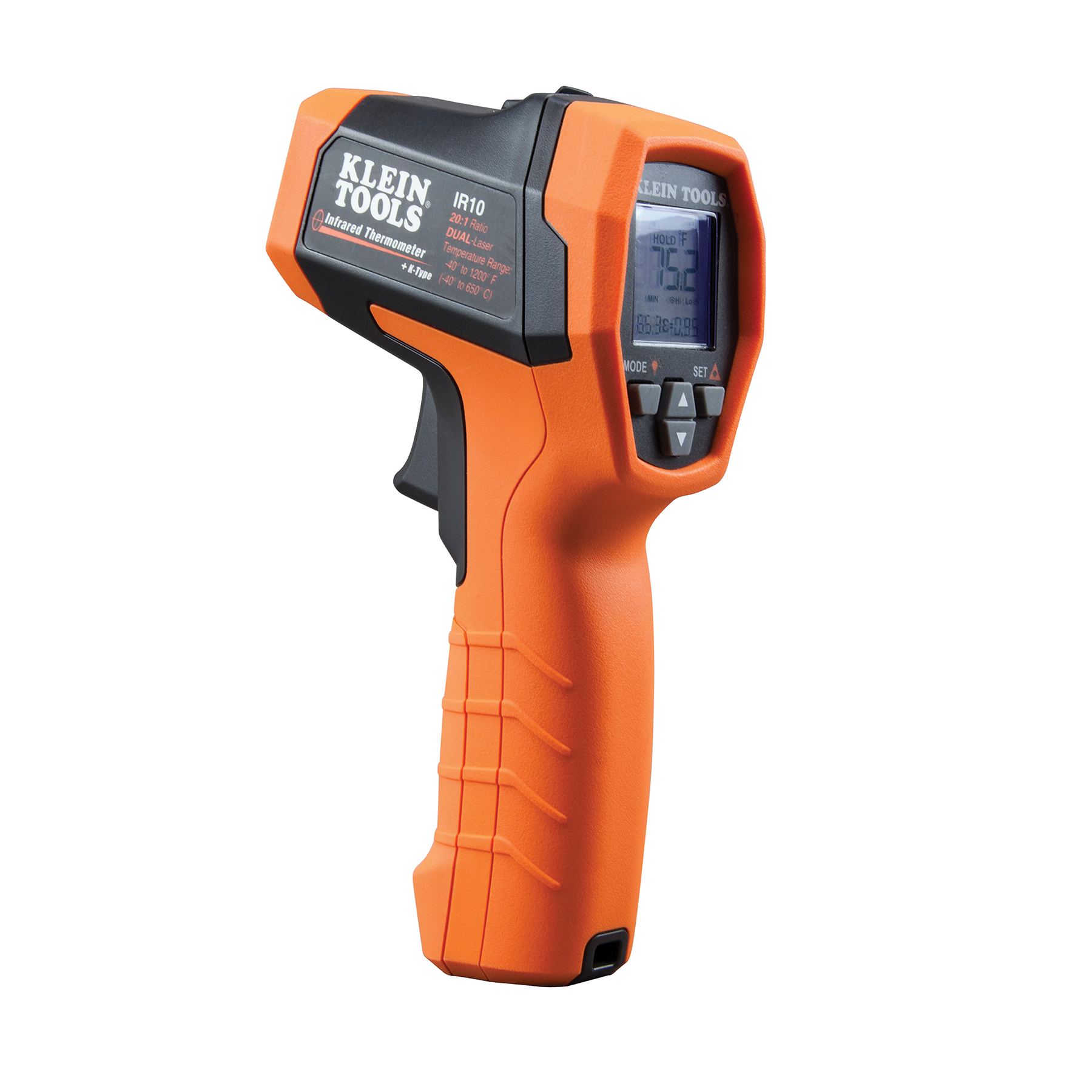 Klein Tools IR10 Infrared Thermometer, Digital Thermometer Gun with Dual Targeting Laser, 20:1