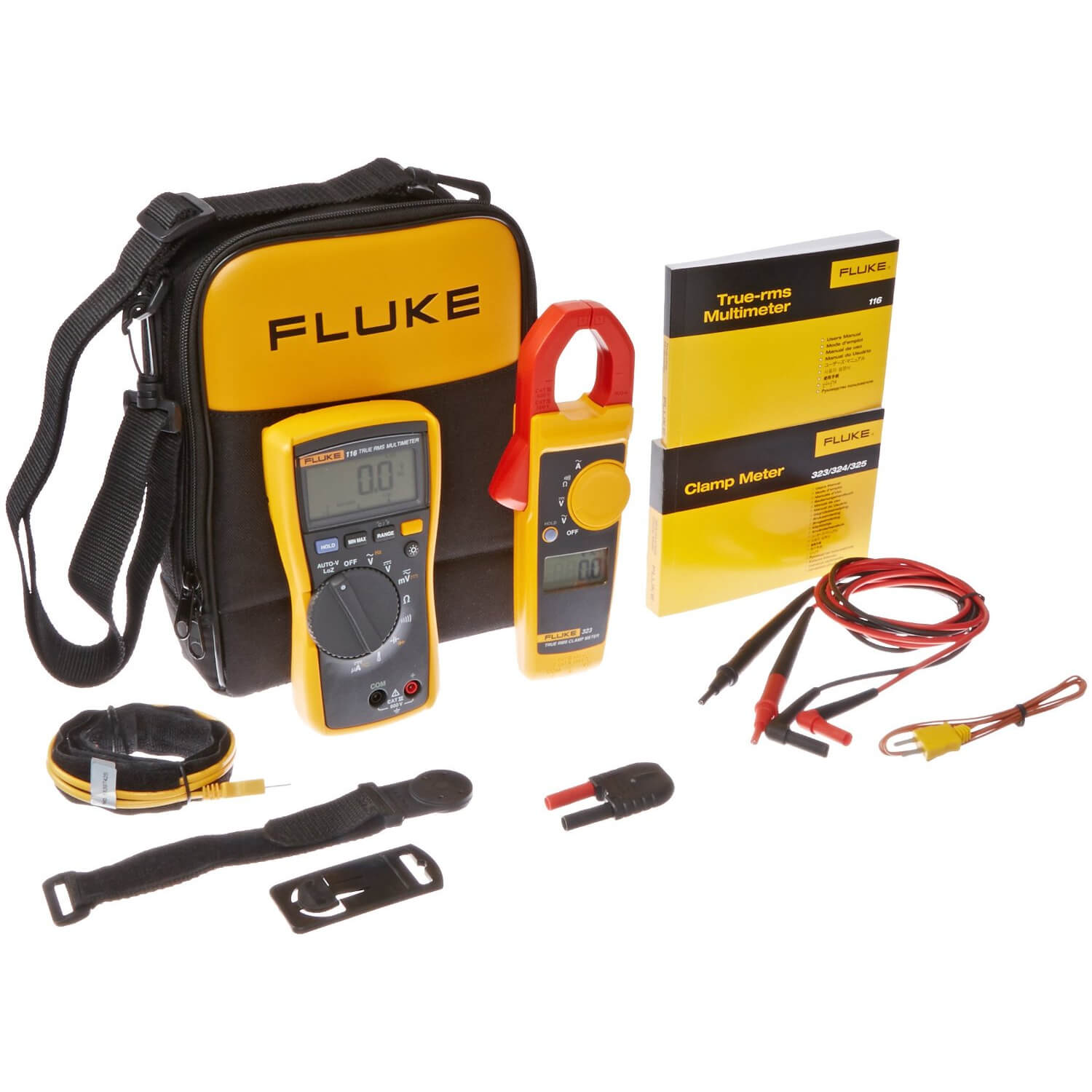 Fluke 116/323 TRMS Multimeter and Clamp Meter Kit for HVAC