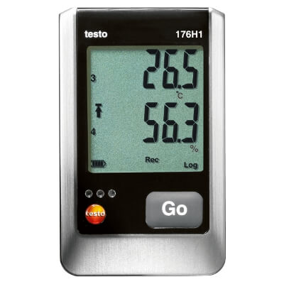 Testo 176 H1 4-Channel Data Logger for Temperature and RH
