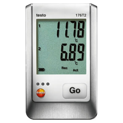 Testo 176 T2 2-Channel Data Logger for Temperature
