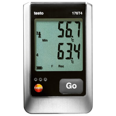 Testo 176 T4 4-Channel Data Logger for Temperature