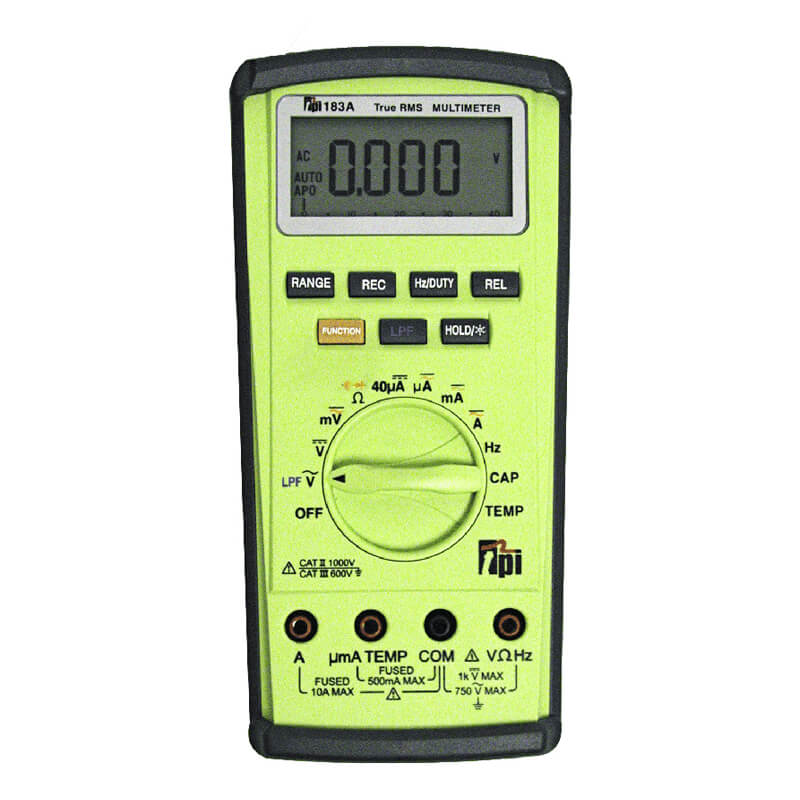 TPI 183A TRMS Digital Multimeter with Low Pass Filter