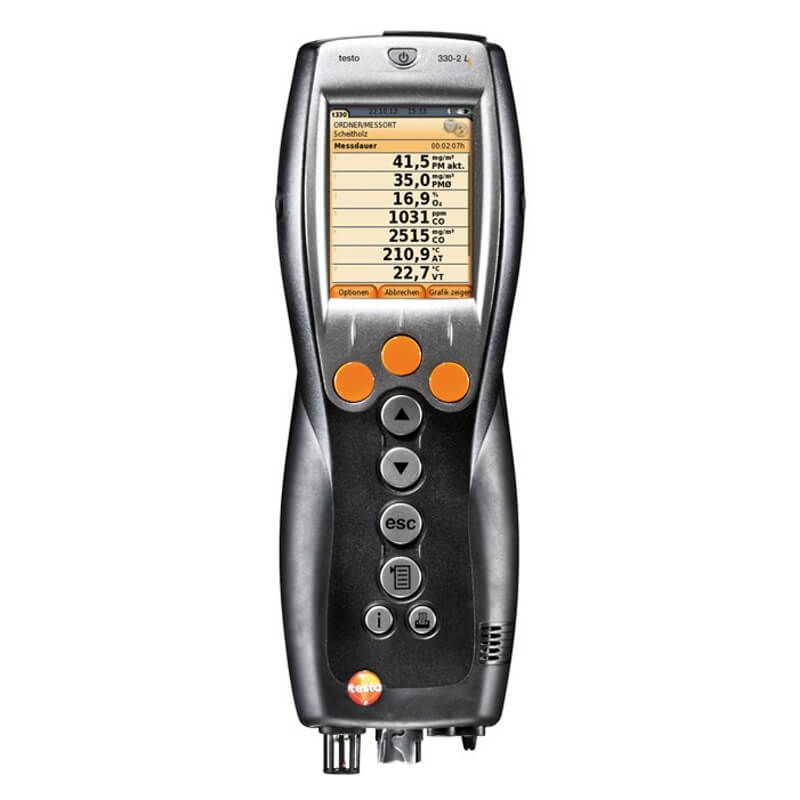 Testo 330-1G LL Kit 4 Commercial Combustion Analyzer with Color Screen