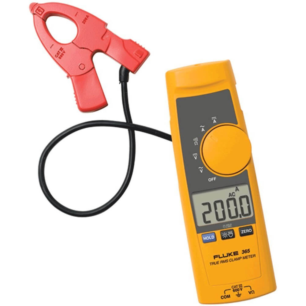 Fluke 365 200A TRMS AC DC Clamp Meter with Detachable Clamp