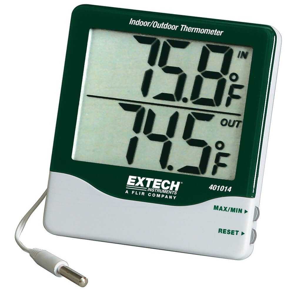 Extech 401014 Big Digit Digital Indoor Outdoor Thermometer