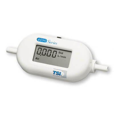 TSI 4143 LCD Gas Flow Meter Calibrated by 3 Gases