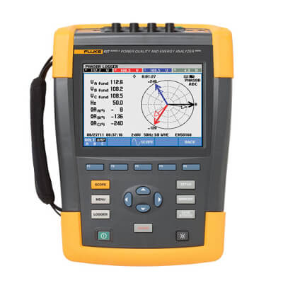 Fluke 437 Series II 400HZ Energy and Power Quality Analyzer