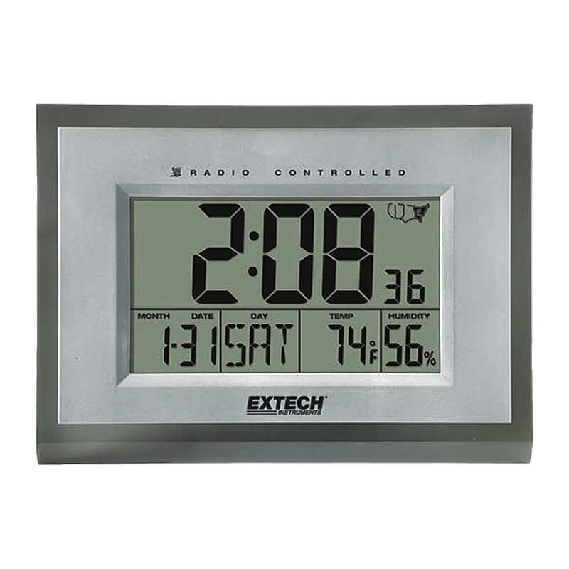 Extech 445706 Radio Hygro Thermometer Clock with Digital Display