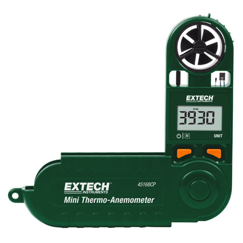 Extech 45168CP Miniature Thermometer-Anemometer with Compass