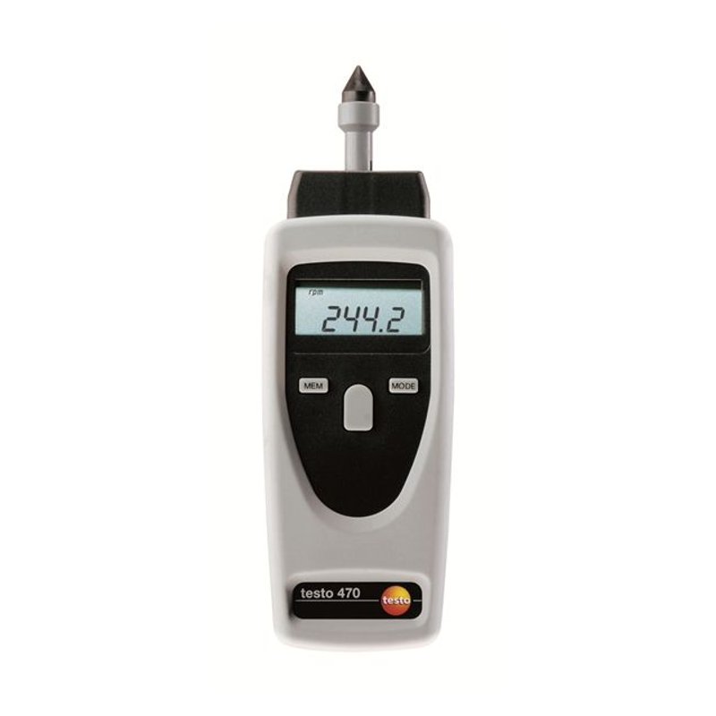 Testo 470 Contact and Photo Tachometer Combo Meter