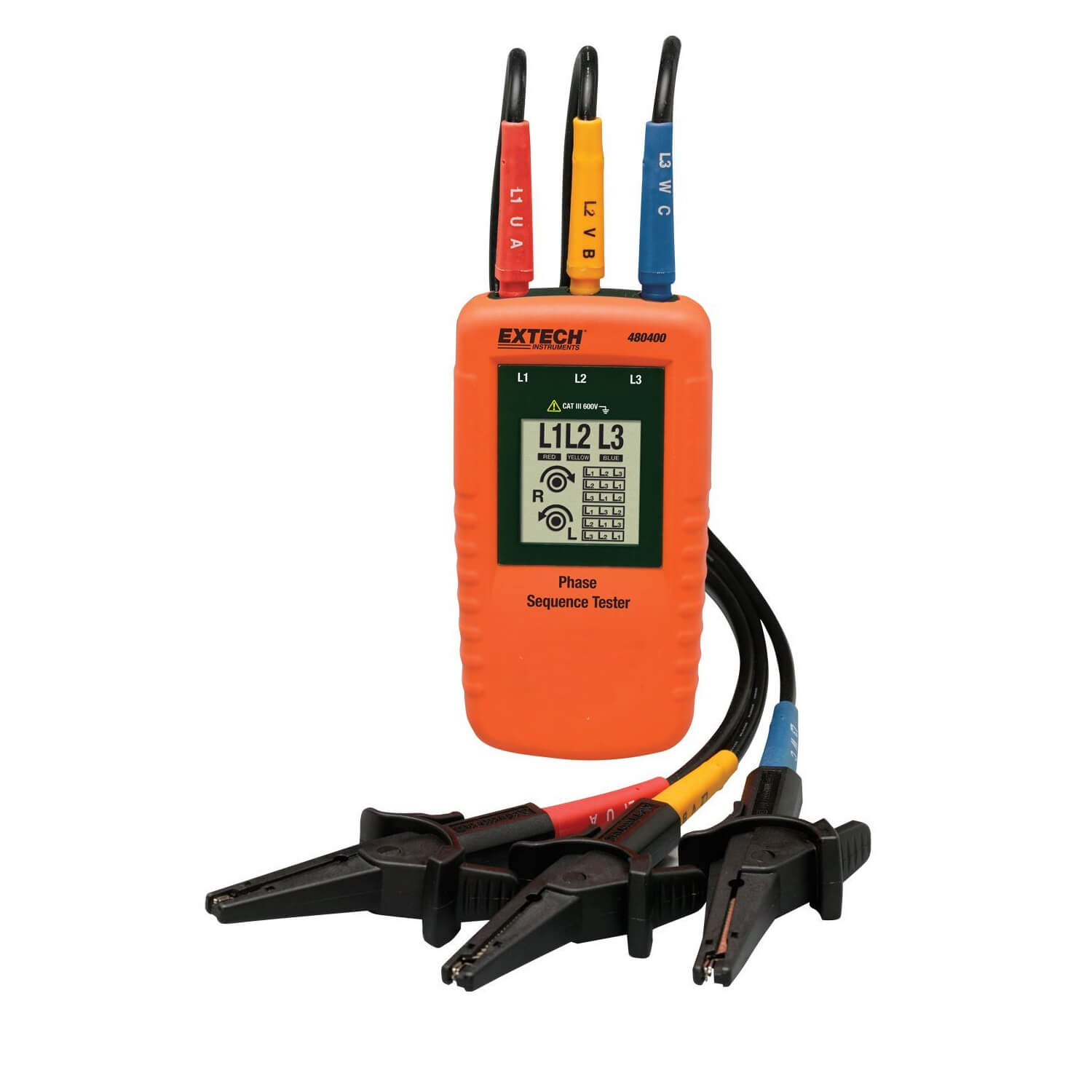 Extech 480400 3-Phase Rotation Meter