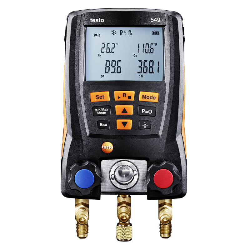 Testo 549 Digital Manifold System for HVAC 0560 0550