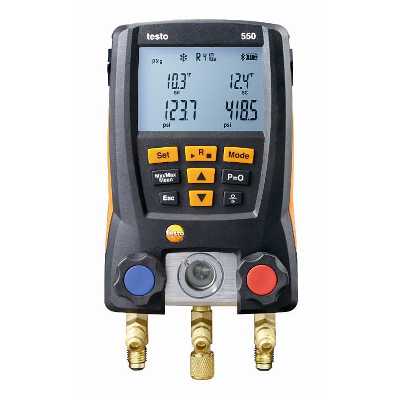 Refrigeration Digital Manifold Gauge Meter HVAC Vacuum Pressure Temperature Kit
