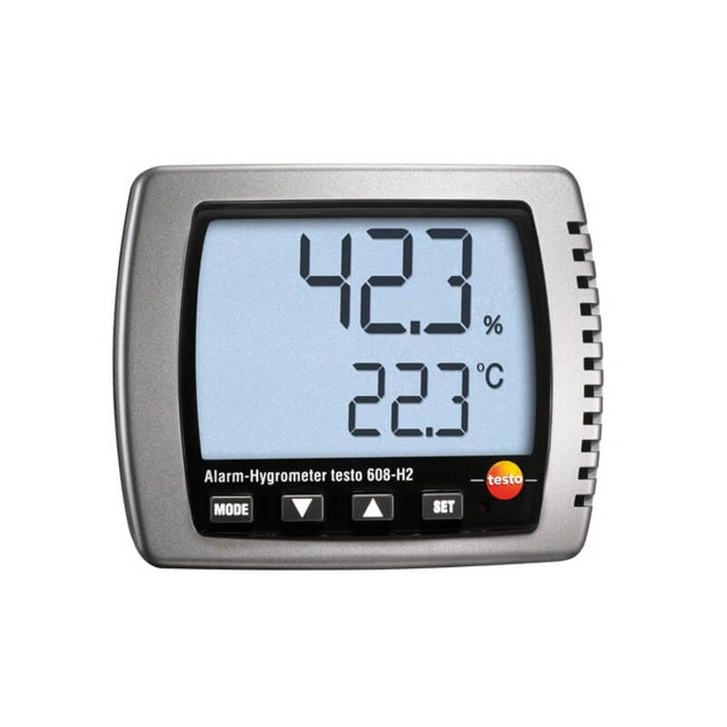 Testo 608-H2 Wall Mountable Thermo Hygrometer with Alarm