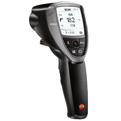 Testo 835-H1 Infrared Thermometer with 4 Point Laser and Moisture Module