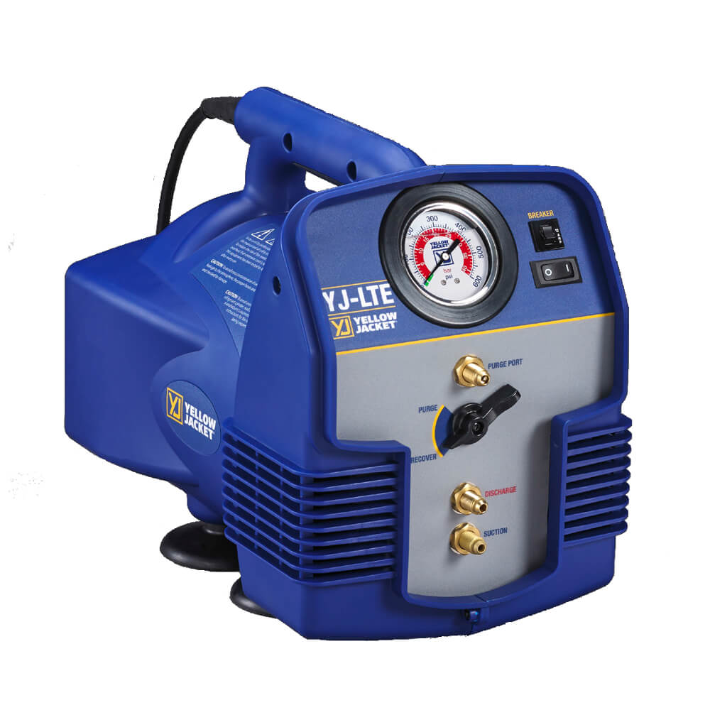 Yellow Jacket 95730 YJ-LTE Compact HVAC Refrigerant Recovery Machine