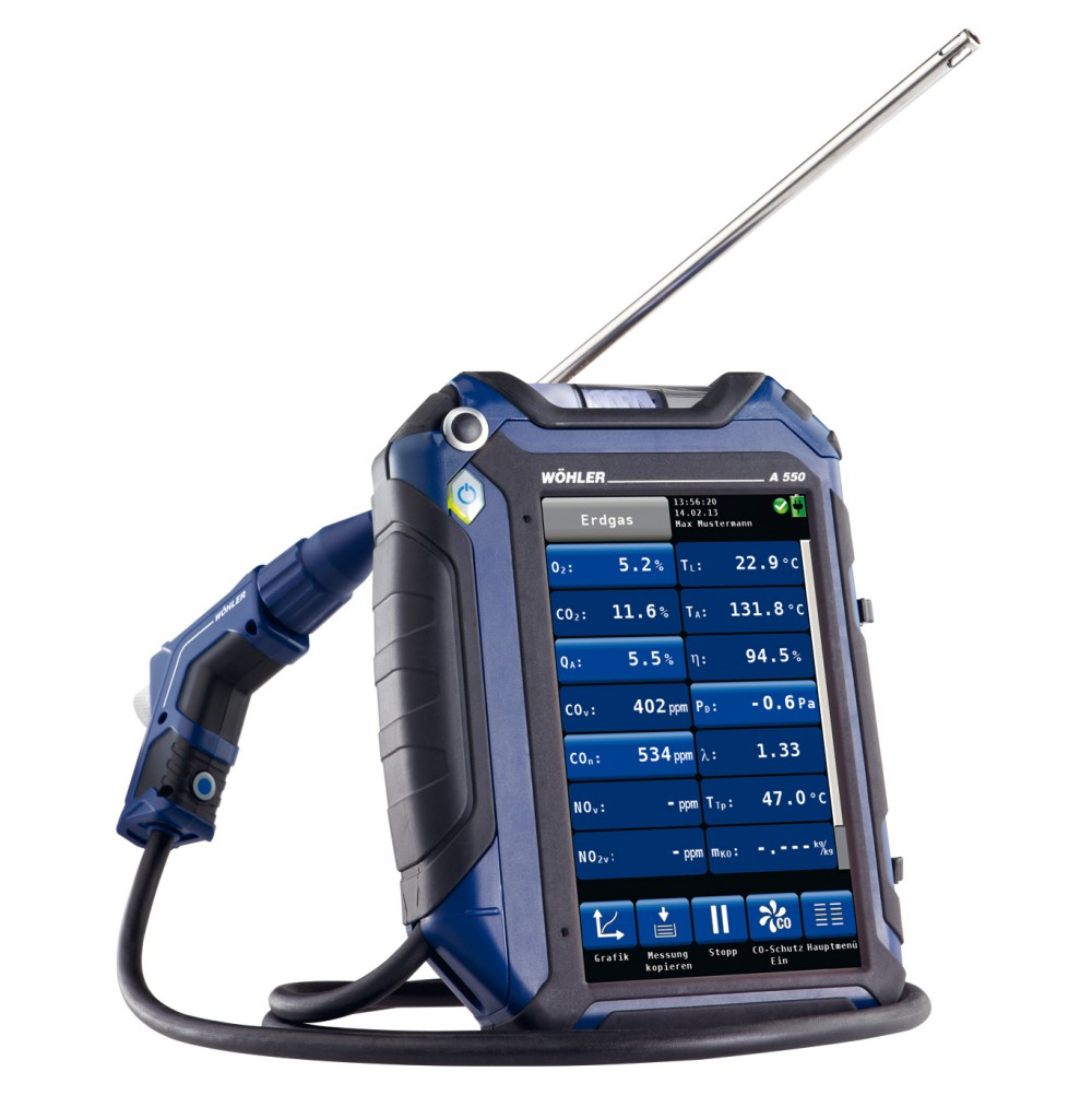 Wohler A 550 L  Advanced Touch Screen Combustion Analyzer 7754