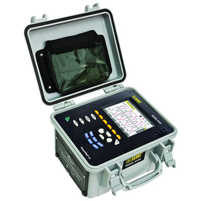 AEMC 8435 Power Quality Analyzer Three-Phase Kit w/4 A196-24-BK AmpFlex