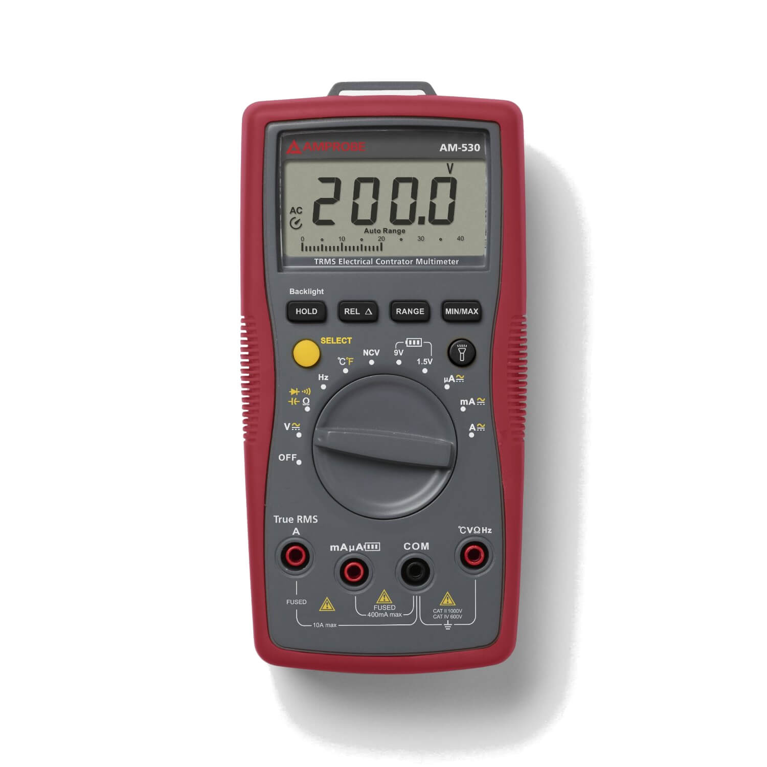 Amprobe AM-530 TRMS Multimeter for Electrical Contractors