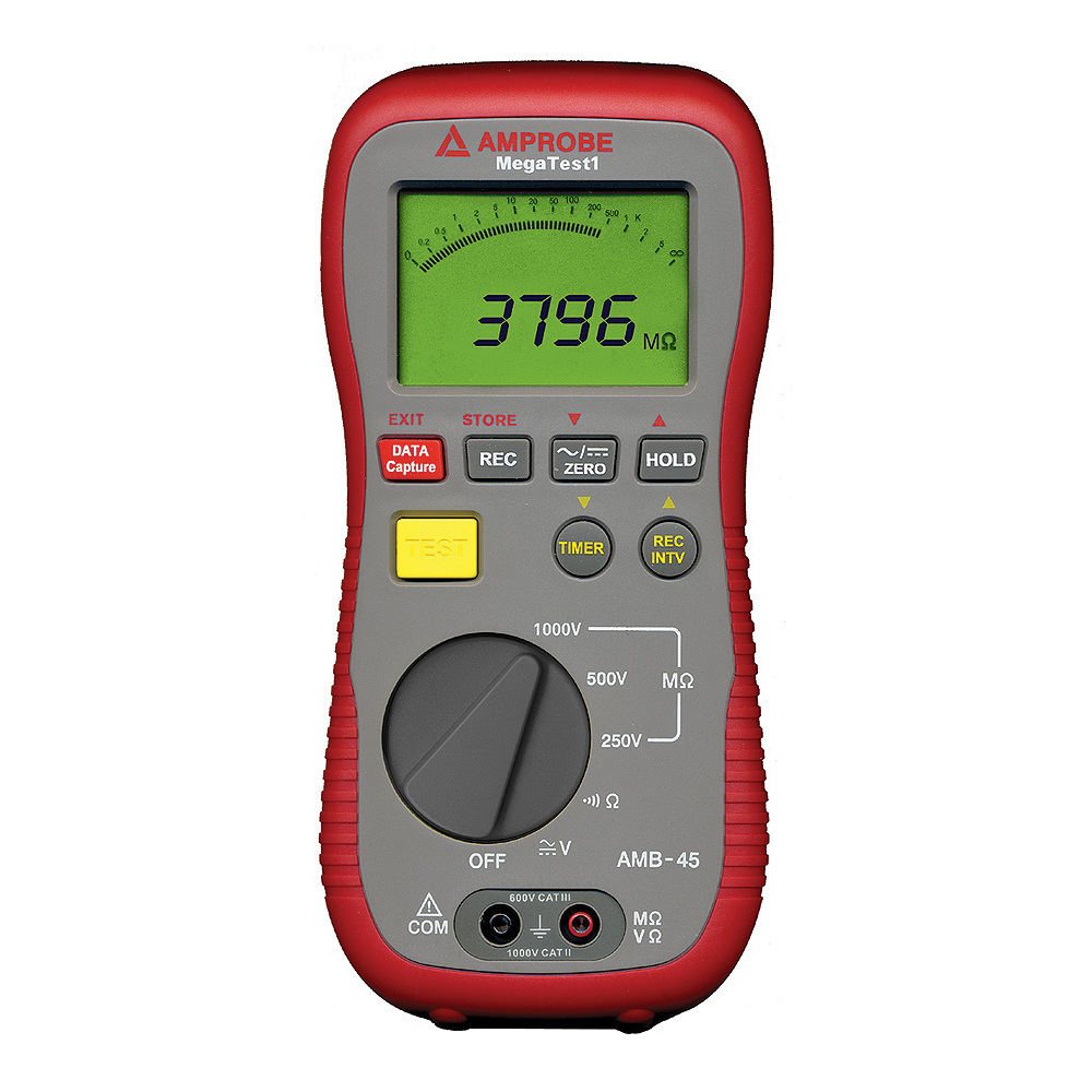 Amprobe AMB-45 MEGATEST 1 Digital Megohmmeter Insulation Resistance Tester (Free 2nd Shipping)