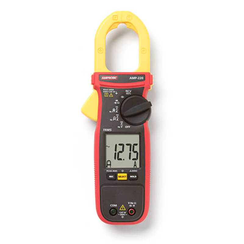 Amprobe AMP-220 TRMS Clamp Meter for Electrical Technicians