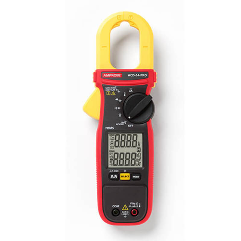 Amprobe ACD-14 Pro Dual Display TRMS Clamp Meter 600A 600V CAT III