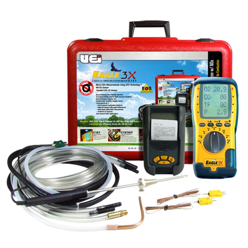 UEi C157-Kit Eagle 3X Combustion Analyzer with Printer