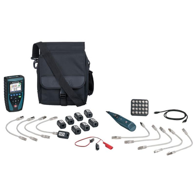 Softing CableMaster 850 Cable and PoE Tester with Remotes for LAN Telephone and Coax Cables
