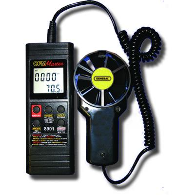 General Tools DCFM8901 Digital CFM Anemometer with Serial Output