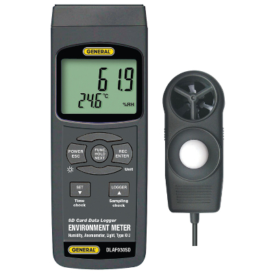 General Tools DLAF930SD Environmental Conditions Tester and Data Logger