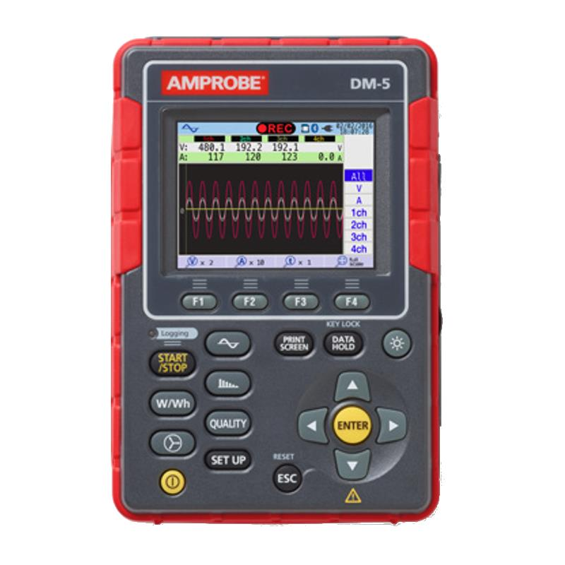 Amprobe DM-5 Power Quality Analyzer With Remote Monitoring