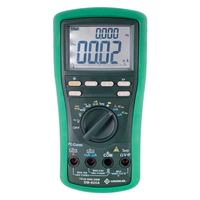 Greenlee DM-820A Handheld TRMS Digital Multimeter