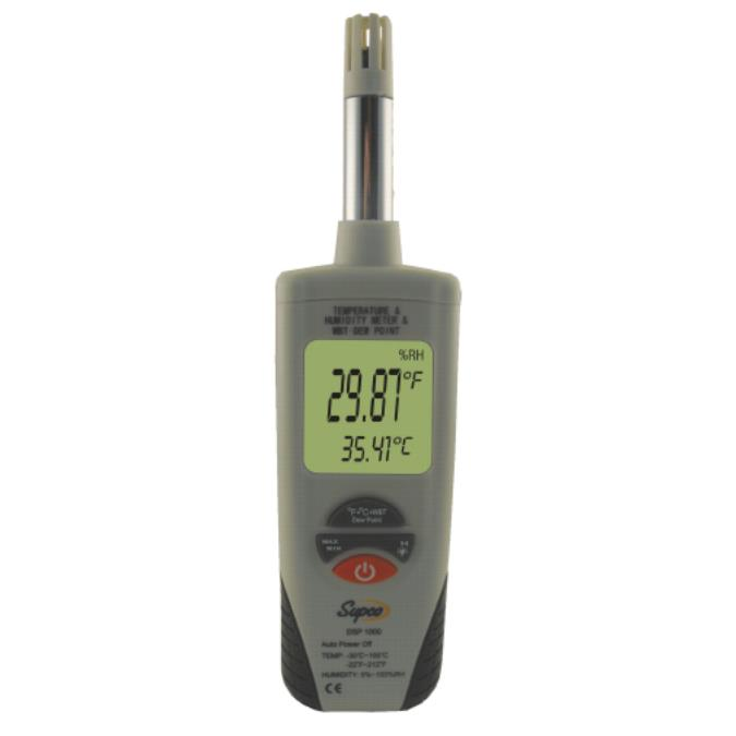Supco DSP1000 Digital Psychrometer Temperature and Humidity Meter