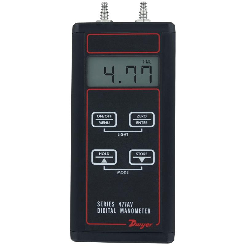 Dwyer 477AV-000 Digital Manometer Accurate Pressure Meter 0-1 Inch WC