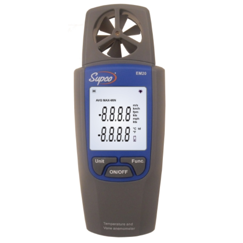 Supco EM20 Handheld Digital Thermo-Anemometer