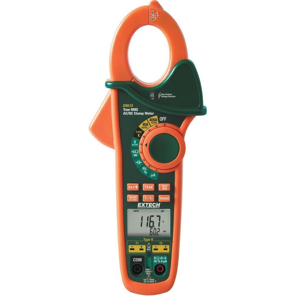 Ac Dc Clamp Meter : Extech ex clamp meter ac dc