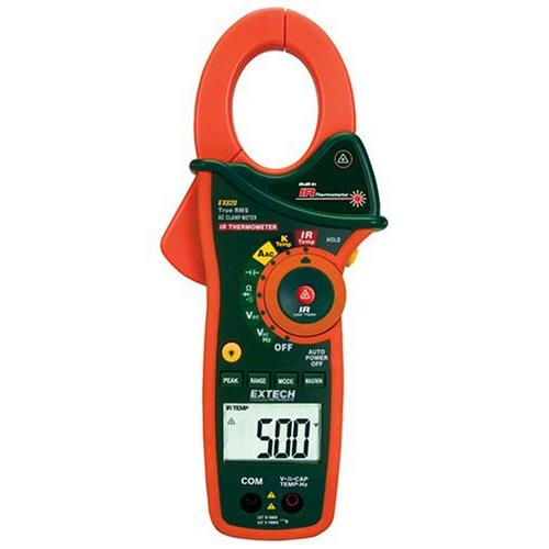 Extech EX820 1000A Digital TRMS Clamp Meter with IR Thermometer