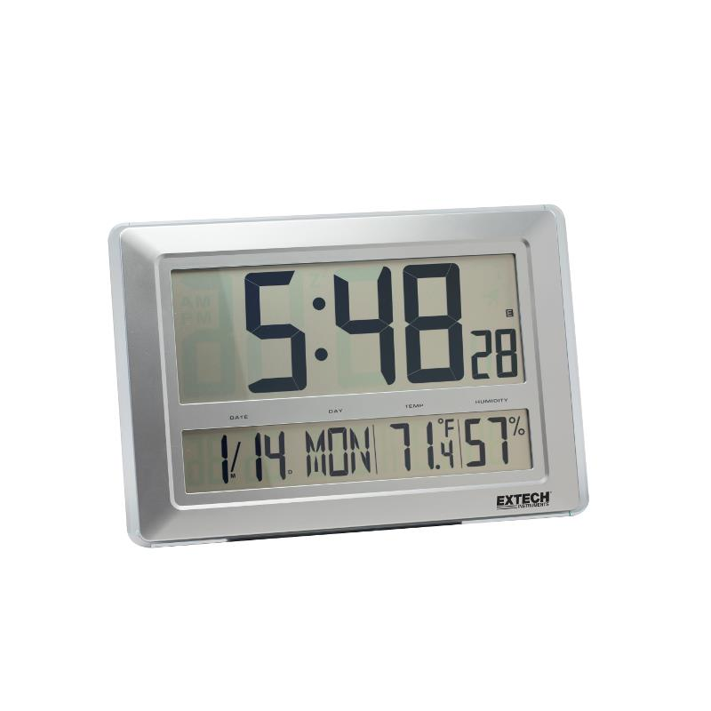 Extech CTH10A Radio Controlled Clock Calendar and Hygro-Thermometer Wall Mounted