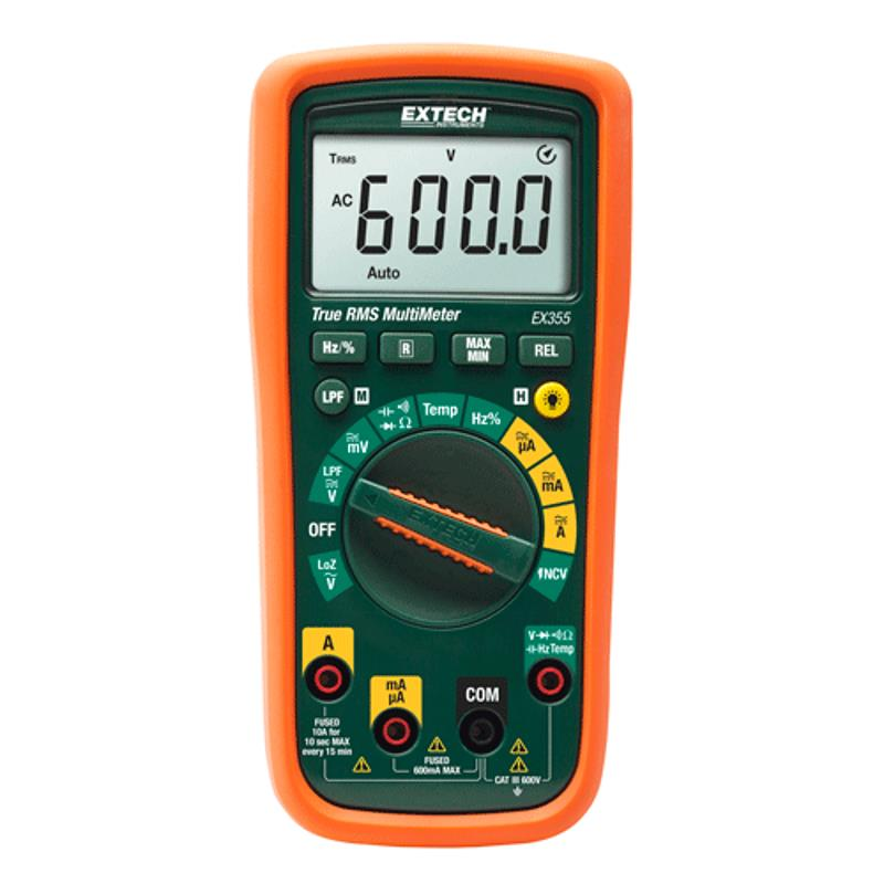 Extech EX355 True RMS Multimeter Non-Contact Volt and Temperature Set