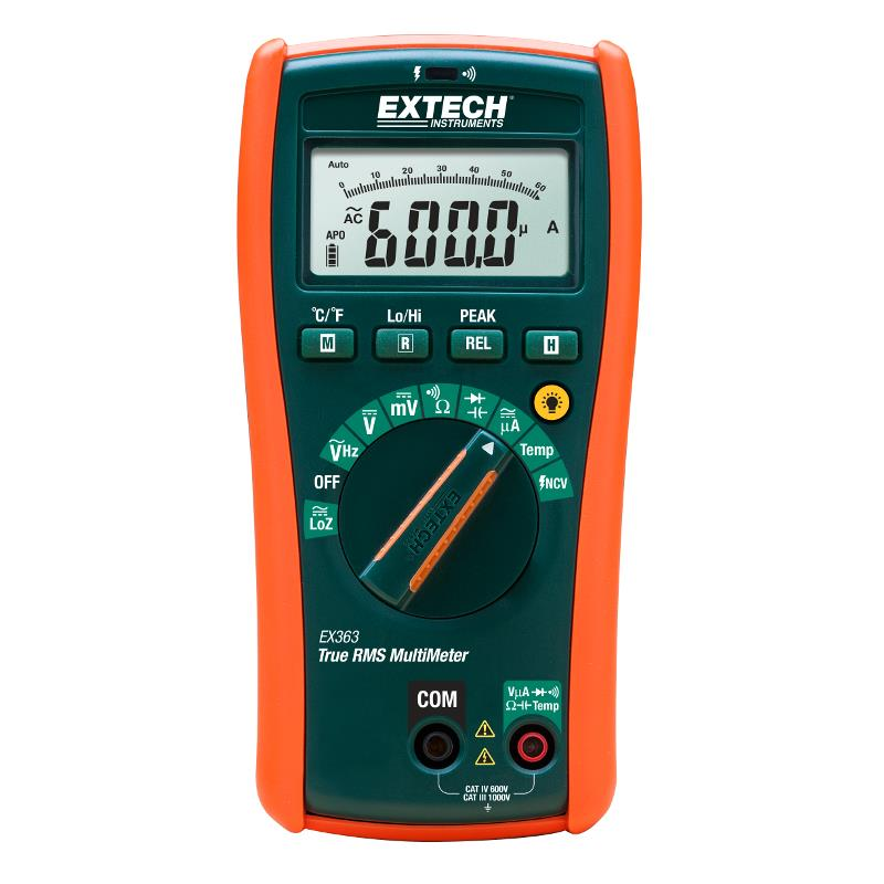 Extech EX363 TRMS Multimeter with 11 functions and NCV Detector