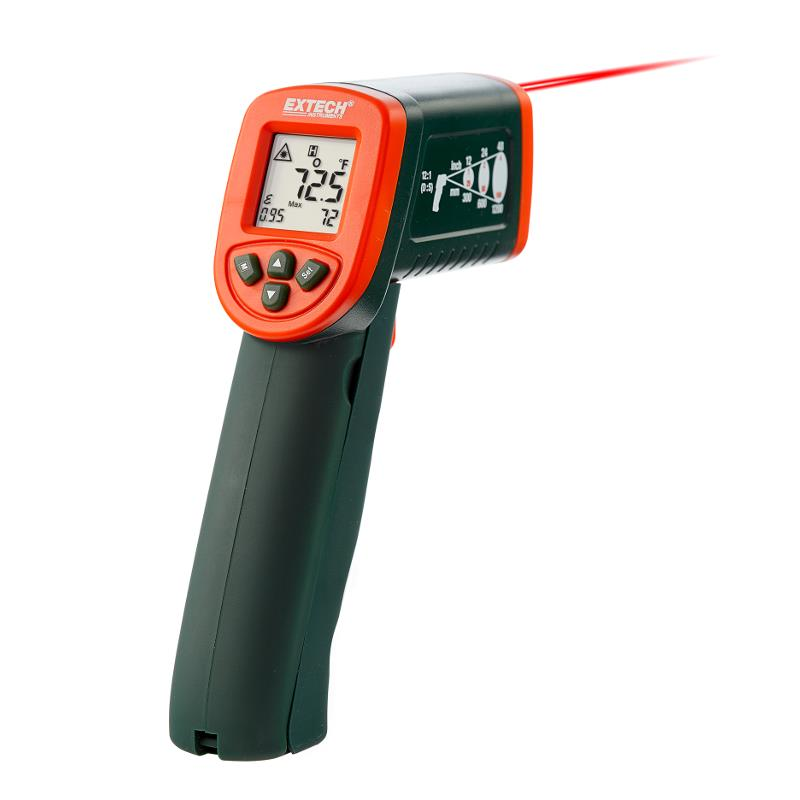 Extech IR267 Compact IR Thermometer with 12 to 1 Distance Ratio and K Type Probe