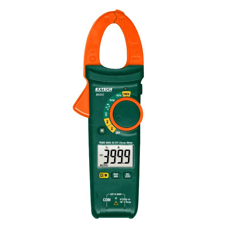 Extech MA445 True RMS 400A Clamp Meter AC/DC Current with NCV Detector