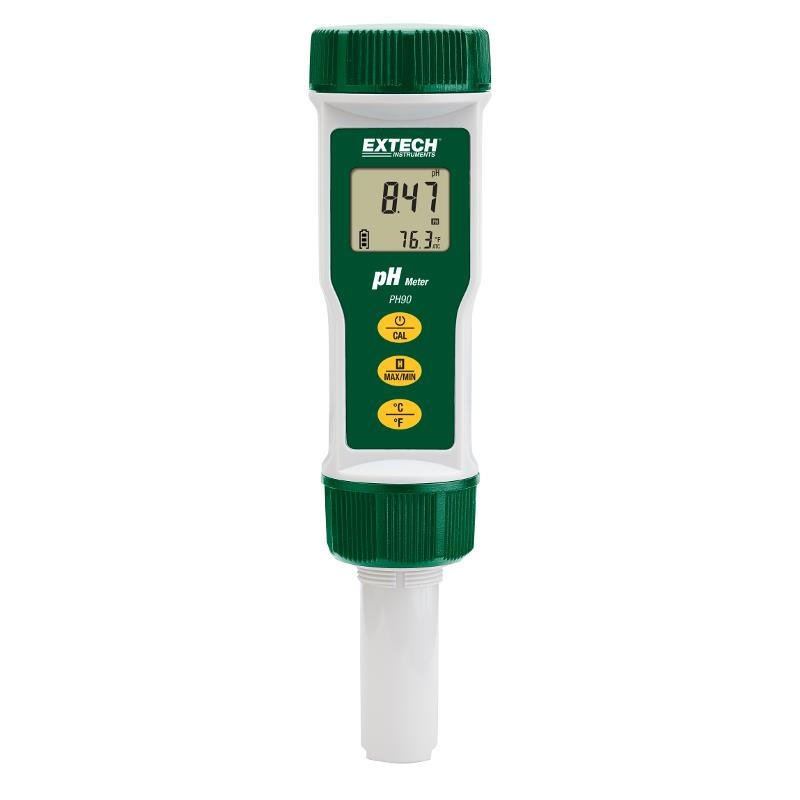 Extech PH90 Waterproof pH Meter with Temperature Compensation